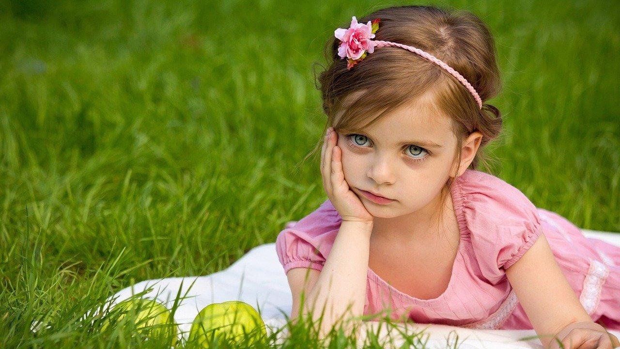 girl, grass, nature