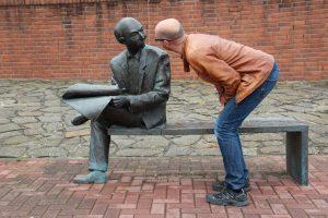 man, sculpture, art